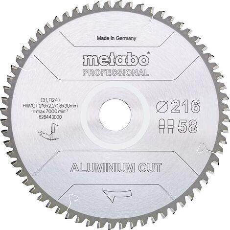 Lame de scie circulaire Metabo ALUMINIUM CUT PROFESSIONAL 628288000 160 x 20 x 1.2 mm Nombre de dents: 48 1 pc(s)