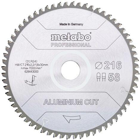 Lame de scie circulaire Metabo ALUMINIUM CUT PROFESSIONAL 628448000 305 x 30 x 2.2 mm Nombre de dents: 84 1 pc(s)