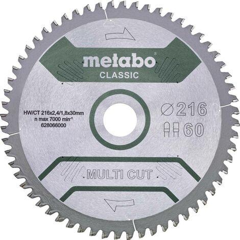 Lame de scie circulaire Metabo MULTI CUT CLASSIC 628286000 305 x 30 x 2.2 mm Nombre de dents: 80 1 pc(s)