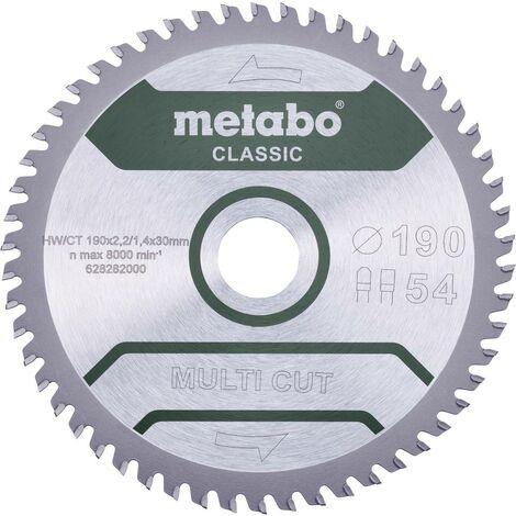 Lame de scie circulaire Metabo MULTI CUT CLASSIC 628661000 165 x 20 x 1.4 mm Nombre de dents: 42 1 pc(s)
