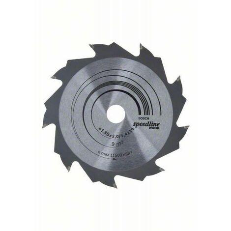 Lame de scie circulaire portative Speedline Wood ø 130 AL 16 mm 9 Dents BOSCH 2608640774