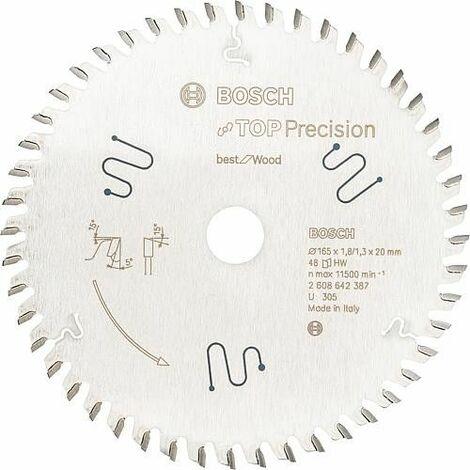 Lame de scie circulaire pour aluminium, plastiques, résine époxy et bois, 165 x 20 mm