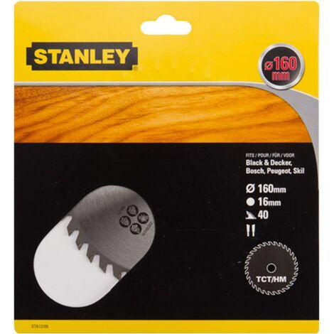 Lame de scie circulaire Stanley - 'TCT/HM' 160 mm