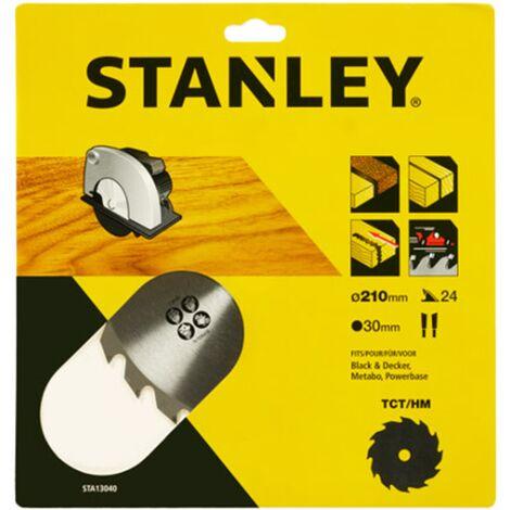 Lame de scie circulaire Stanley - 'TCT/HM' 210 mm
