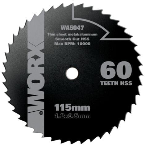Lame de scie circulaire Worx 'WA5047' Bois/métal 115 mm