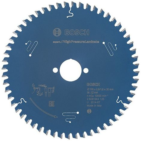 Lame de scie circulaire.Expert HPL190x2,6x30mm Z56 TF Bosch