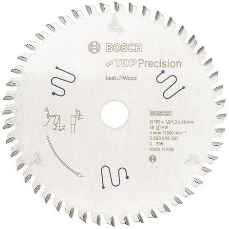 Lame de scie circulaire.TOP Pre MM165x1,8x20mm Z56 TF-Bosch