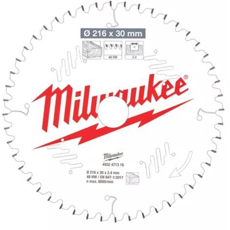 Lame de scie onglet bois 216x30x2.4 48 dents Milwaukee