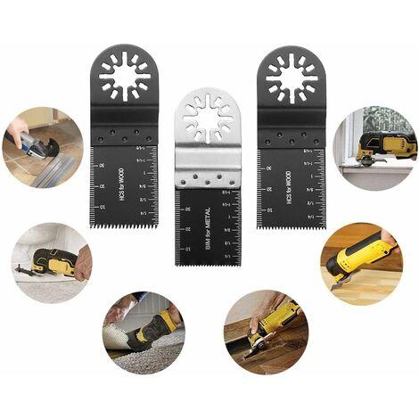 Lame de scie oscillante mixte 20PCS Outil Multi-Usage kit Pour Fein Multimaster, Porter Cable, Rockwell, Black & Decker, Bosch Craftsman, Ridgid Ryobi, Makita Milwaukee, Chicago, etc