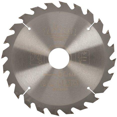 Lame de scie pour travail du bois - 165 x 30 mm - 24 dents