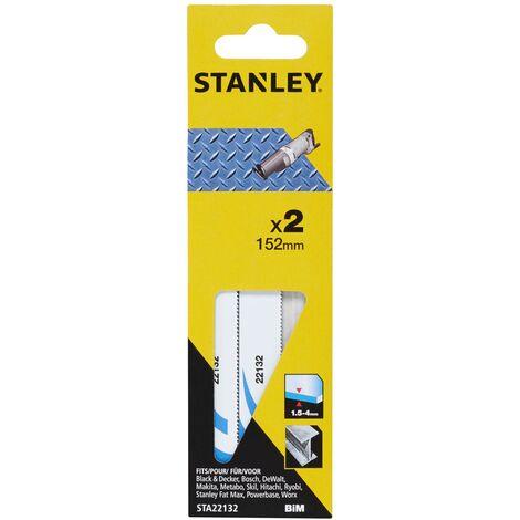 Lame de scie réciproque Stanley - métal fin 152 mm - 2 pcs
