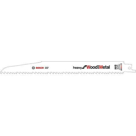 Lame de scie sabre Bosch S 1110 VF Longueur 225mm UE 5 pieces pour bois et metal