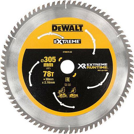 Lame de scie sabre DeWalt DT99576 diam. 305 x 30 mm avec 78 dents