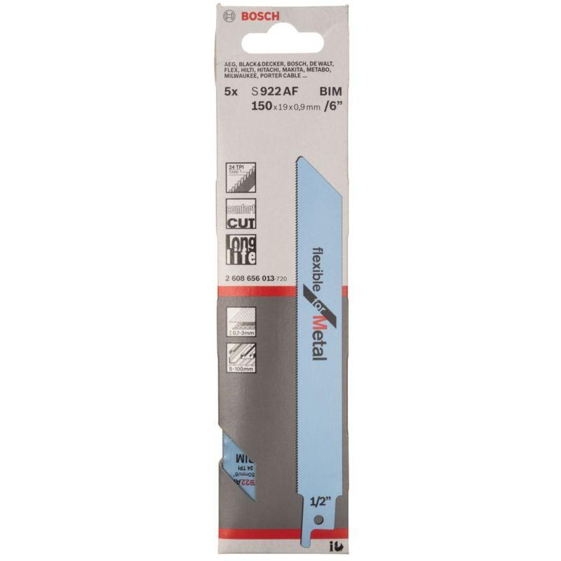 Bosch sabre lame de scie s 922 af Flexible pour Métal 2608656013