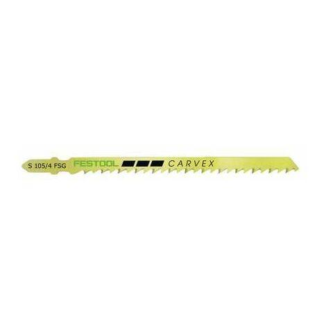 Lame de scie sauteuse bois - Emmanchement en T S 105/4 FSG - Lot de 5 - Festool