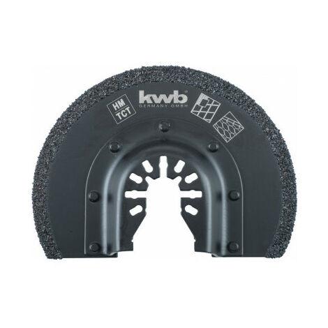 Lame de scie semi-circulaire au carbure 85mm KWB