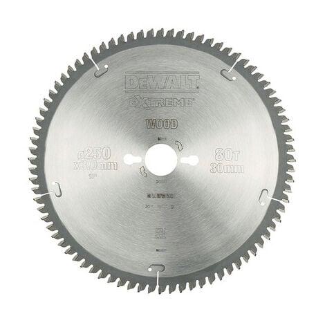 Lame de scie stationnaire DEWALT- bois - Ø250 mm - 80 dents - DT4287