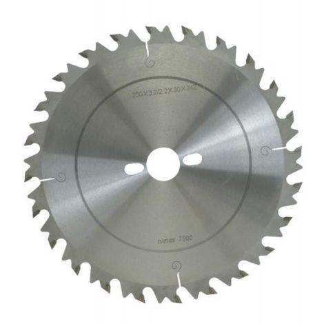 Lame de scies circulaires carbure anti-recul, diamètre 250 mm, 24 dents
