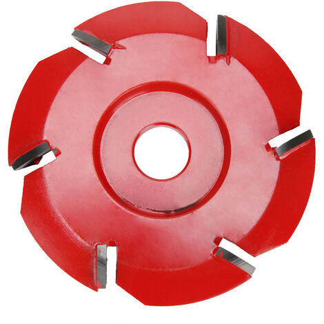 Lame de turbine a bois a six dents, lame de plateau a the, lame de creusage, diametre interieur 16 mm, diametre exterieur 90 mm, compatible avec la meuleuse d\'angle d\'ouverture 16 mm rouge