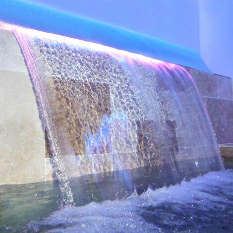 Lame d'eau avec led 16w - 1200 x 150mm - cascade pour piscine