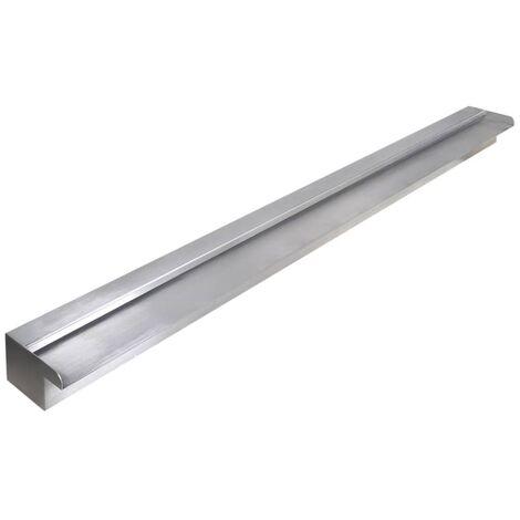 Lame d'eau rectangulaire pour piscine Acier inoxydable 150 cm