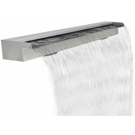 Lame d'eau rectangulaire pour piscine en acier inoxydable 120 cm