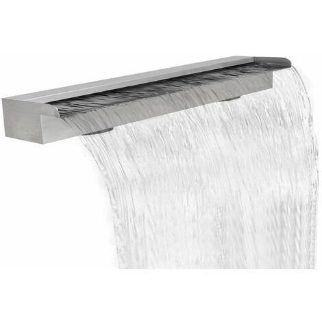 Lame d'eau rectangulaire pour piscine en acier inoxydable 150 cm