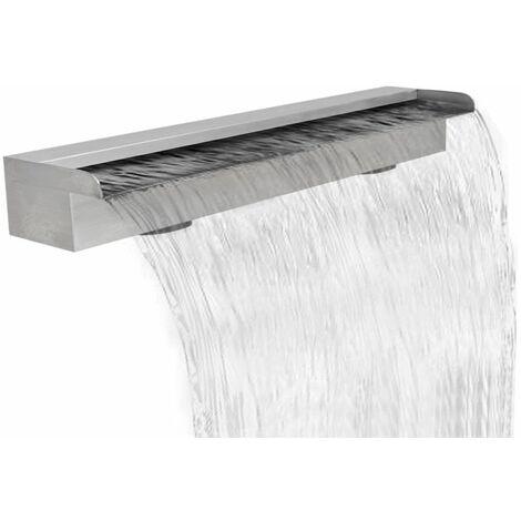 Lame d'eau rectangulaire pour piscine en acier inoxydable 90 cm