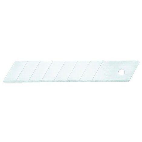 10 lame di ricambio per cutter taglierino 18 mm Fervi 0096//L in custodia