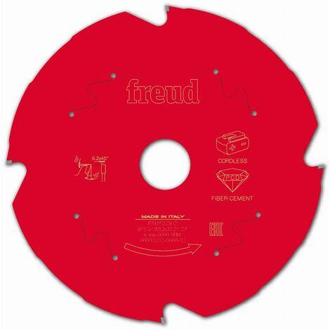 Lame diamant pour scie circulaire portative sans fil FREUD - Ø190 1,8/1,2 AL30 Z4 TD 10° - F03FS10097 -FR13F003HC