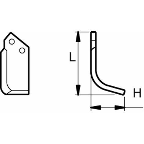 Lame hélicoidale gauche P-HL 9953 adaptable HOWARD