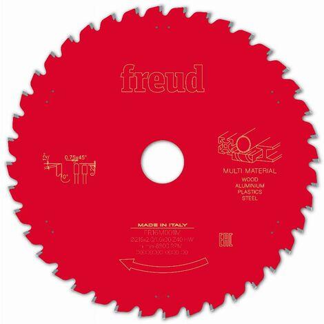 Lame pour scie circulaire portative FREUD - Ø216 2/1,6 AL30 Z40 TPB 0° - F03FS09887 -FR16M001M