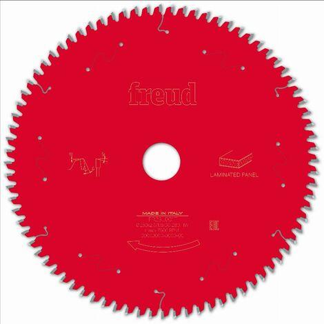 Lame pour scie circulaire portative FREUD - Ø250 2,8/1,8 AL30 Z80 BA -2° - F03FS09804 -FR23L001T