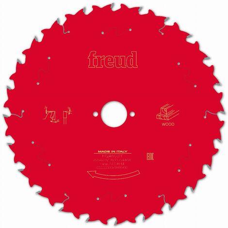 Lame pour scie circulaire portative FREUD - Ø254 2,6/1,8 AL30 Z24 BA 20° - F03FS09778 -FR24W001T