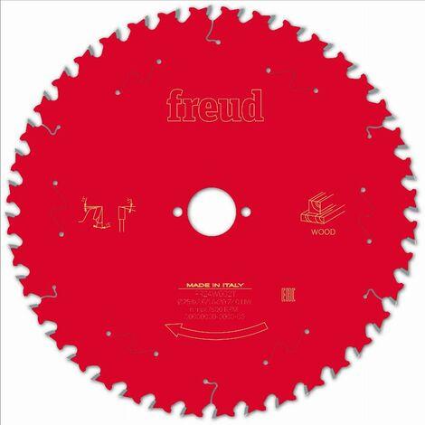 Lame pour scie circulaire portative FREUD - Ø254 2,6/1,8 AL30 Z40 BA 15° - F03FS09779 -FR24W002T