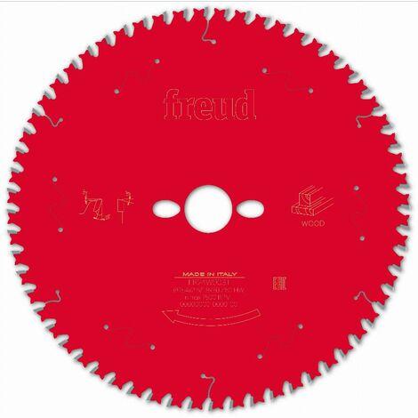 Lame pour scie circulaire portative FREUD - Ø254 2,6/1,8 AL30 Z60 BA 10° - F03FS09780 -FR24W003T