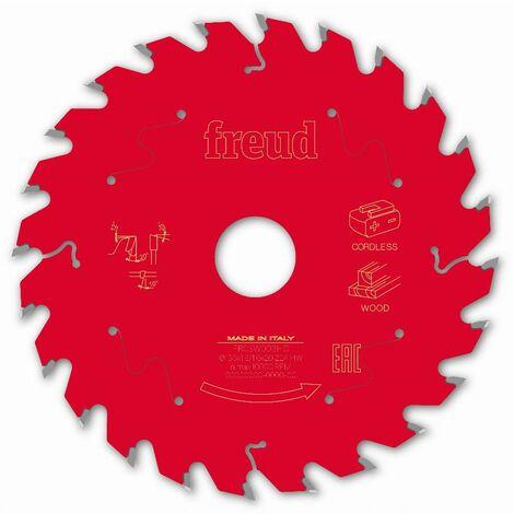 Lame pour scie circulaire portative sans fil FREUD - Ø120 1,65/1,2 AL20 Z24 BA 20° - F03FS10043 -FR02W003HC