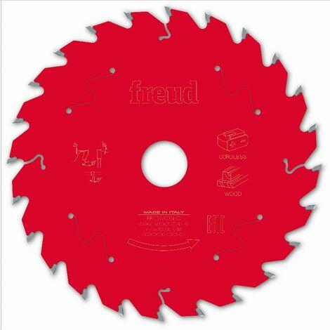 Lame pour scie circulaire portative sans fil FREUD - Ø136 1,45/1 AL20 Z24 BA 20° - F03FS10044 -FR03W003HC