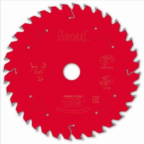 Lame pour scie circulaire portative sans fil FREUD - Ø160 1,45/1 AL20 Z36 BA 15° - F03FS10049 -FR05W016HC
