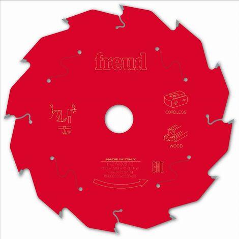 Lame pour scie circulaire portative sans fil FREUD - Ø165 1,45/1 AL20 Z12 BA 25° - F03FS10051 -FR07W009HC