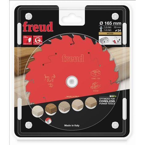 Lame pour scie circulaire portative sans fil FREUD - Ø165 1,45/1 AL20 Z24 BA 25° - F03FS10052 -FR07W010HC