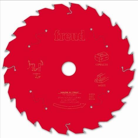 Lame pour scie circulaire portative sans fil FREUD - Ø184 1,55/1 AL20 Z24 BA 25° - F03FS10055 -FR11W010HC