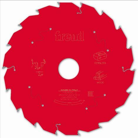 Lame pour scie circulaire portative sans fil FREUD - Ø190 1,45/1 AL30 Z18 BA 25° - F03FS10057 -FR13W010HC