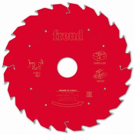 Lame pour scie circulaire portative sans fil FREUD - Ø190 1,45/1 AL30 Z24 BA 25° - F03FS10058 -FR13W011HC
