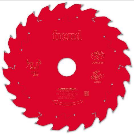 Lame pour scie circulaire portative sans fil FREUD - Ø210 1,7/1,2 AL30 Z24 BA 25° - F03FS10068 -FR15W001TC