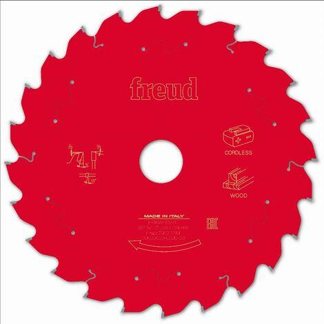 Lame pour scie circulaire portative sans fil FREUD - Ø216 1,7/1,2 AL30 Z24 BA 5° - F03FS10061 -FR16W006MC