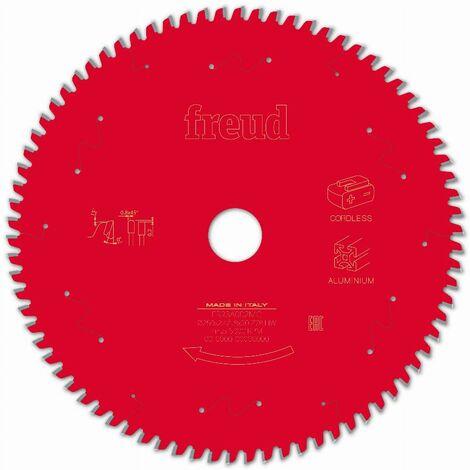 Lame pour scie circulaire portative sans fil FREUD - Ø250 2,4/1,8 AL30 Z78 TP 0° - F03FS10090 -FR23A002MC