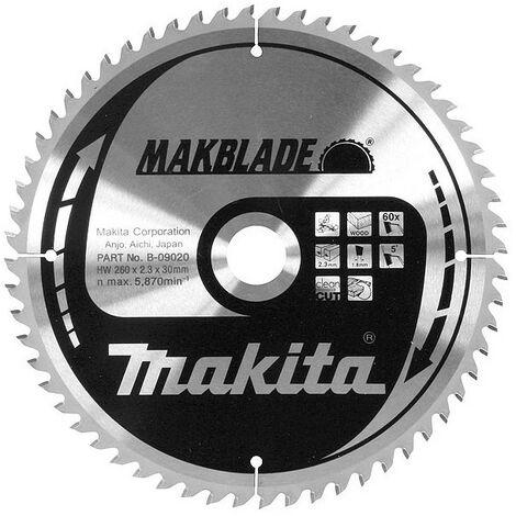 LAME POUR SCIE RADIALE TCT ST 260/30/40 BOIS MAKITA B-08981