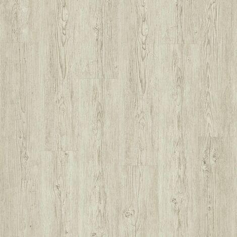 Lame PVC à clipser - boite de 7 lames - 1,61m² - Essentiel Click 30 - imitation parquet Brushed Pine blanc - Tarkett