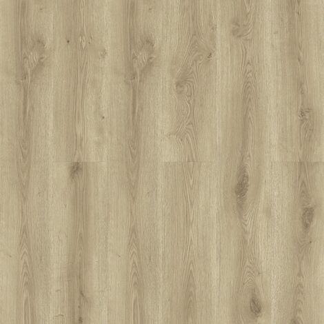 Lame PVC à clipser - boite de 7 lames - 1,61m² - Essentiel Click 30 - imitation parquet Contemporary Oak Natural - Tarkett